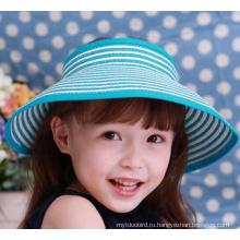 Девочка моды большой до краев Летняя шляпа