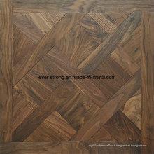 Plancher de parquet de mosaïque de plancher en bois Plancher machiné