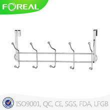 Spectrum Diversified Over The Door 5 Hook Rack Silver
