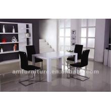 Modern high gloss MDF dining room set