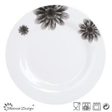 Plaque de porcelaine en céramique ronde de 10,5 po