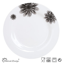 """Placa de porcelana redonda con diseño de cerámica de 10.5 """""""