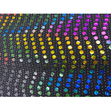 New style Metallic Spangle Knit Sequin Fabric
