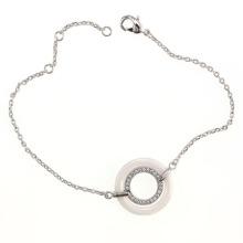 Pulseira de prata esterlina e jóias de cerâmica (T20015)