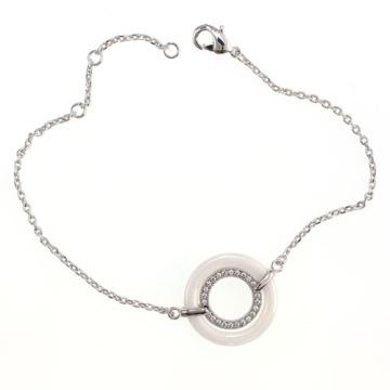 Sterling Silber und Keramik Schmuck Armband (T20015)