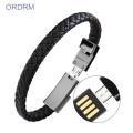Mode tragbares USB-Telefon Lederarmband
