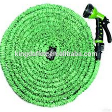 Tuyau extensible de jardin de PVC de tuyau d'eau de pelouse de tissu de force supplémentaire de planète
