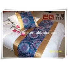 100% poliéster High Grade Decoração Atacado Hotel Bed Runner