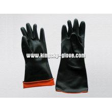 Gant industriel en latex double couleur résistant-5603