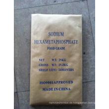 Lebensmittel grade weiß Pulver Felsen Natrium Hexametaphosphat-SHMP