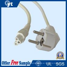 Cable de extensión de la corriente ALTERNA de la UE UL 10A 250V 3 Pin