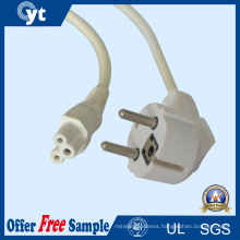 UL 10A 250V 3 Pin EU AC Power Extension Cord