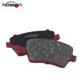 Almofada de freio de peças metálicas com calço para Nissan
