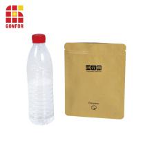 Пакет из фольги для упаковки из крафт-бумаги с замком на молнии