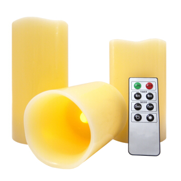 Remote control natural LED flameless candles