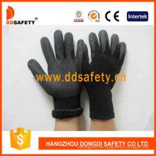Schwarzes Nylon mit schwarzem Nitril-Handschuh Dnn459