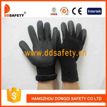 Schwarzes Nylon mit schwarzem Nitril-Handschuh-Dnn459