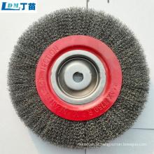 Escova de fio de aço ajustável a preço de atacado para limpeza de peças fundidas