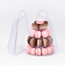 HOT SALE 4 Tiers Macaron Tower Mini Macaron Display Stand with Carrying Case