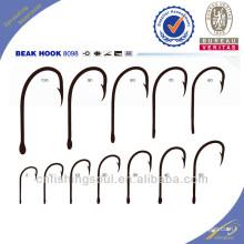 FSH037 8098 Crochets de pêche en acier à haute teneur en carbone