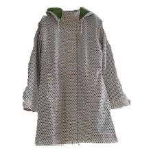 Points PU réfléchissant à capuchon capuchon imperméable/Rain Jacket