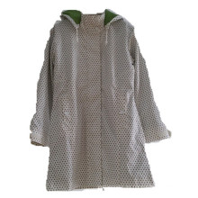 Dots con capucha Reflective PU Hooded Raincoat / Rain Jacket