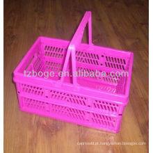 molde plástico da cesta de lavanderia