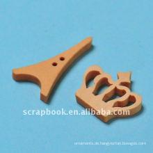 dekorative Holzknöpfe für Scapbooking Kleidungsstück Zubehör