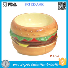 Hot Hamburger Hund Fave Keramik Pet Bowl Haustier Zubehör Hund