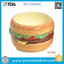 Hot Hamburger Dog′s Fave Ceramic Pet Bowl Pet Accessories Dog
