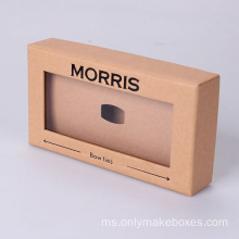 Kraft Paper Carboard Gift Boxes dengan Window PVC