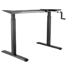 Manual Height Adjustable Desk Hand Cranked Adjustable Table Frame Only