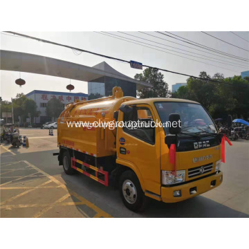 sewage cleaning truck 4x2 sewage suction vehicle