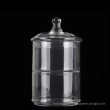 Lidded Large 2 Tier Stackable Glass Candy Jars Glass Cookie