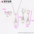 62637 China wholesale fashion white color jewelry sets for women unique zircon 18k white gold plated zircon jewelry