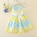 new fashion girls colorful dresses children clothing dresses with butterfly embroidery