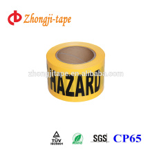 yellow non-adhesive pe hazard tape