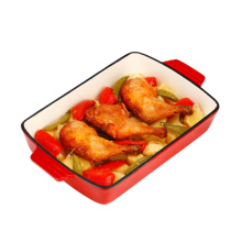 Gusseisen Rechteckige Roaster Serving Dish Enamelware