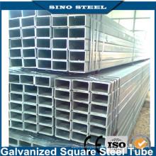 Tubo de aço ERW galvanizado / preto redondo quadrado retangular
