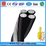 ABC 2X1/0AWG Plus Neutral Aluminum Conductor XLPE Insulated Aluminium Alloy Neutral Cable