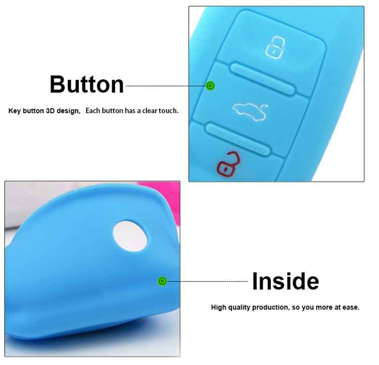 fashion silicone car key cap
