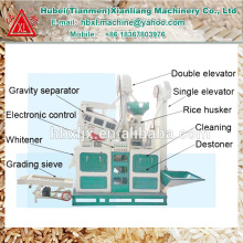 Hogar operativo fácil utilizado molino de arroz manual