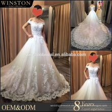 2016 Art und Weisequalitäts ein Linie Hochzeitskleid entfernbar