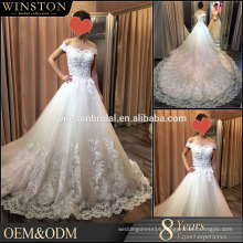 2016 Fashion High Quality a line wedding dress removable