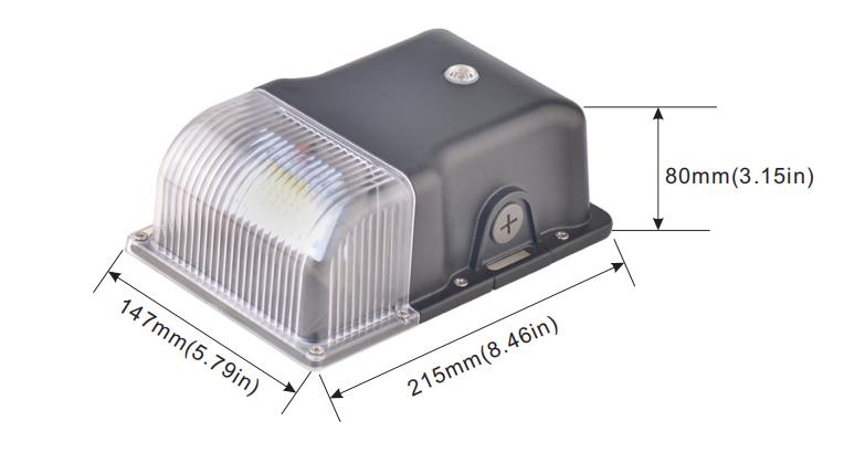 Mini led wallpack