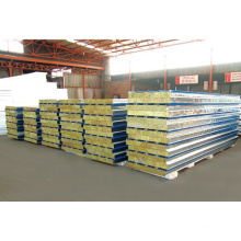 High Reputation Fireproof Insulated Rock Wool Brand Protection Sandwich Panel