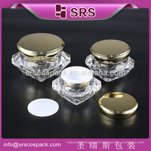 SRS manufacturer cosmetic packaging container ,acrylic jar with diamonds for powder