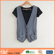 New Arrival Custom Fashion Sleeveless Wool Sweater Design For Women