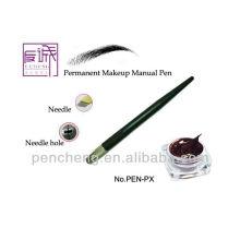 Ceja manual de tatuaje maquillaje permanente pluma