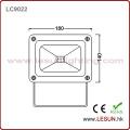 Luz de inundação exterior impermeável LC9022 do diodo emissor de luz do alumínio 20W